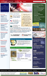The home page of archives.gov has nearly 150 links.