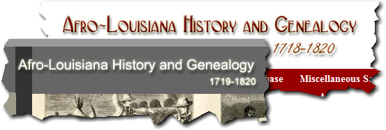 Inconsistent titles on the Afro-Louisiana History and Genealogy website