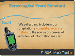 Genealogical Proof Standard Step 2