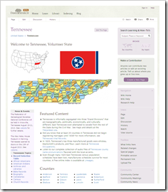 FamilySearch new, Tennessee wiki page
