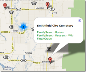 Balloon with Cemetery Information