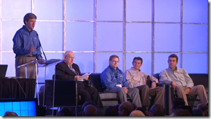 Panelists were (from the left) Verkler, Scott, Rencher, Miller, and Love