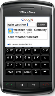 Google Mobile App BlackBerry Storm Weather OneBox How to hide Web Suggestions on BlackBerry Universal Search