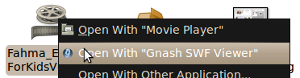 gnash open Flash Movie Running on Linux with GNU Gnash
