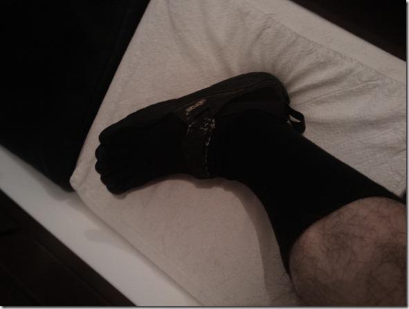chaussettes 5 doigts dans mes KSO runmygeek
