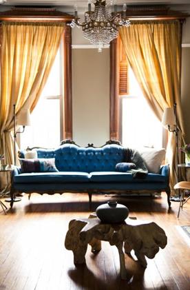 ishka blue sofa