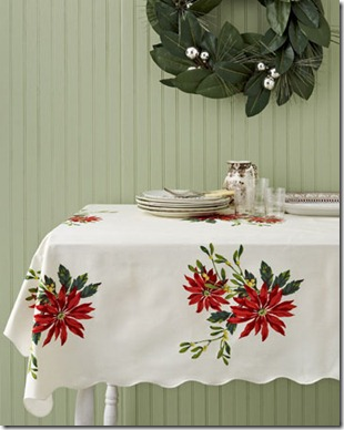 poinsetta tablecloth