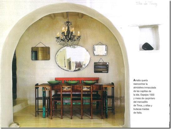 Casa de Valentina - via revista Côte Sud - sala de jantar