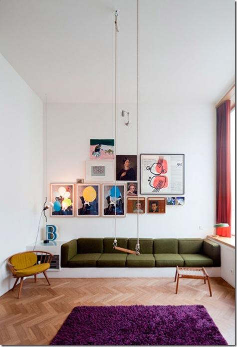 Casa de Valentina - via Hello Tiger - sala com sofá de alvenaria
