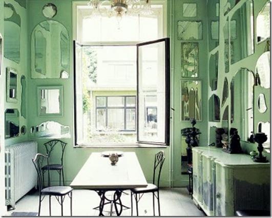 Casa de Valentina - via Brabourne Farm - espelhos na sala de jantar