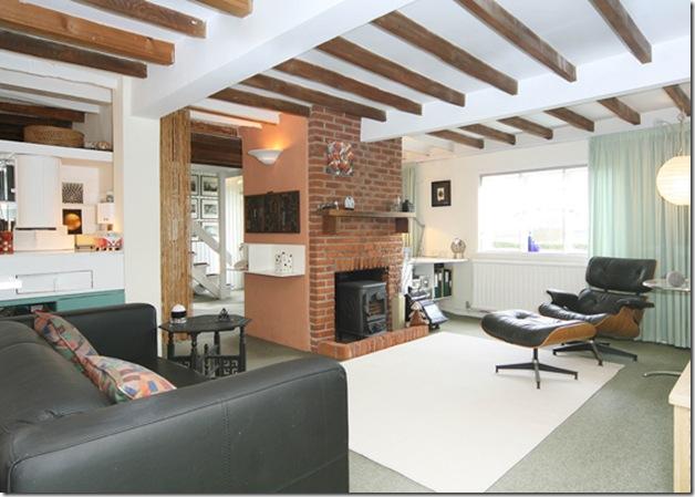 Sala e cozinha. Projeto de Clifford Nicholls