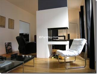 Detalhe da lareira - apartamento em Paris