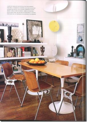 Prateleira na sala de jantar - Foto Architectural Digest