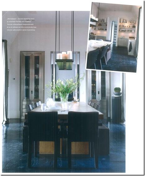 Mesa de jantar na cozinha. Via Stilvoll Wohnen