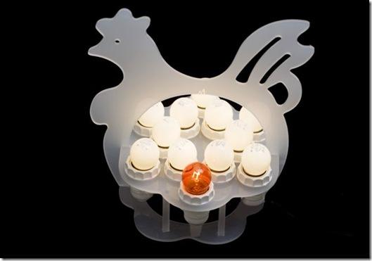 Casa de Valentina - luminária galinha