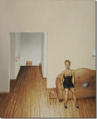 Rodrigo Cunha- Figura feminina com bule branco 2008 50x40