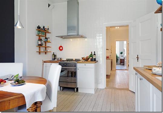 Casa de valentina - Alvhem - sala de jantar e cozinha