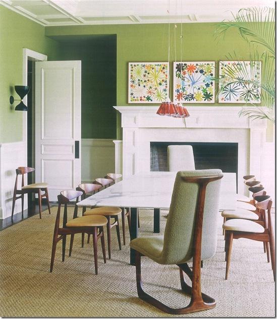 Casa de Valentina - uma casa vintage - sala de jantar verde