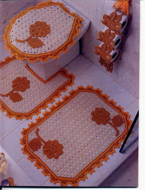 Вяжем крючком коврики для ванной комнаты 7