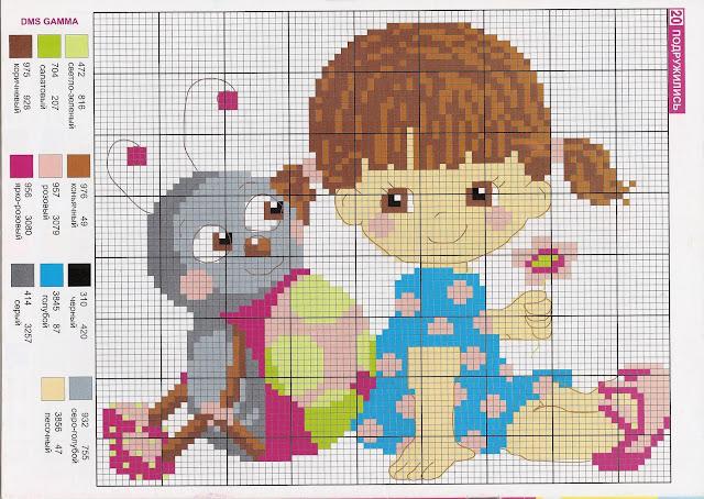 вышивки схемы детьми для