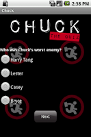Screenshot of Chuck - The Quiz