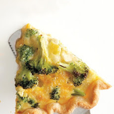Broccoli-Cheddar Quiche
