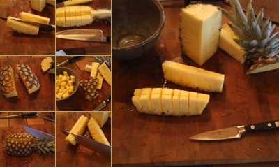 View how to cut a pineapple