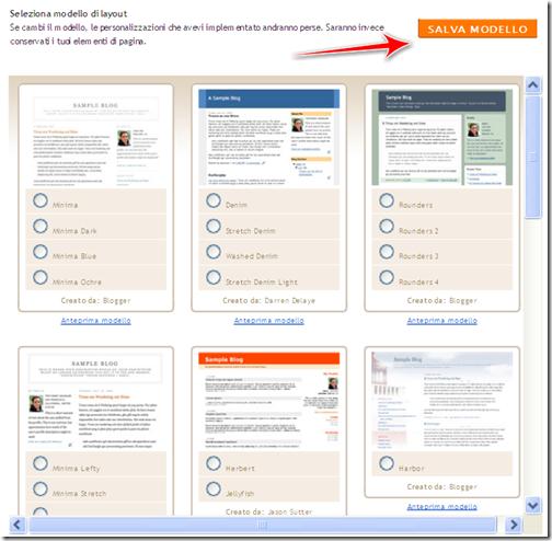 inserire modello template tic tac blogger