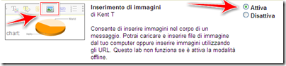 come mettere foto dentro gmail