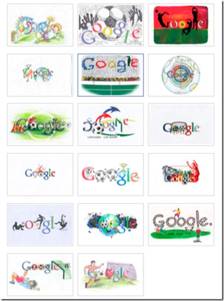 logo google momdiali calcio Sudafrica 2010