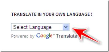 tradurre blog blogger automaticamente altra lingua