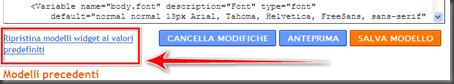 come annullare modifiche inserite widget blogger