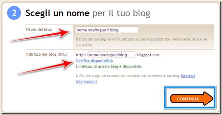 come scegliere nome blog blogger