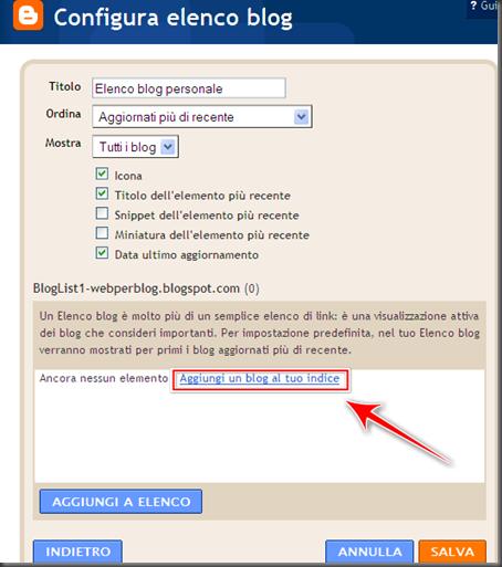come vedere blog che seguo blogroll