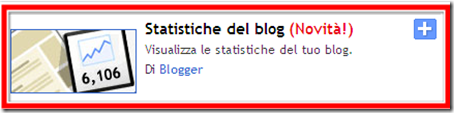 come mettere gadget contatore statistiche visite blog blogger