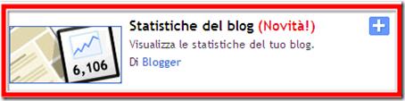 come mettere gadget contatore statistiche visite blog blogger