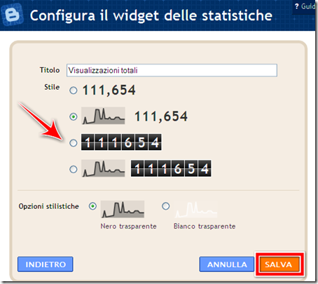 come mettere widget statistiche visite blog blogger