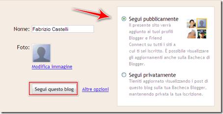 come iscriversi blog blogger Google Friend Connect