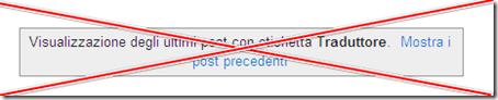 come eliminare cancellare riquadro Visualizzazione degli ultimi post con etichetta