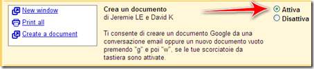 come creare fare documento testo mail gmail google