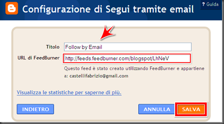 come mettere modulo form iscriviti ricevere post per email