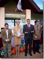 juan Pablo de Jesús - Intendente del Partido de La Costa - Karina Rabolini - Presidenta de la Fundación Banco Provincia -