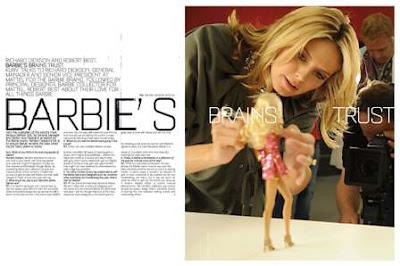 Heidi Klum and Barbie doll