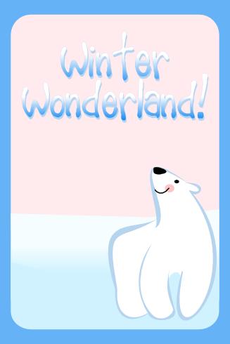 free birthday party polar bear download invitation