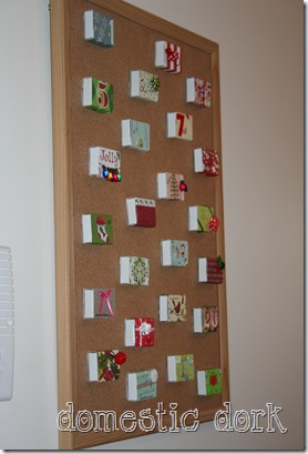 DIY craft advent calendar Christmas