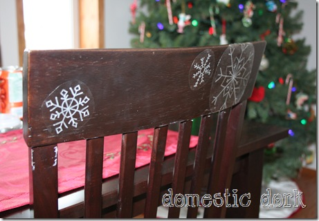 snowflake decal DIY craft tutorial