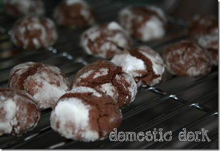 chocolate crinkle recipe cookie