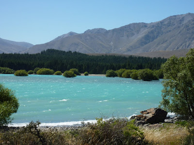 Lake Tekapo - with big waves due to the wind