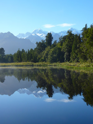 Reflections of Mt Cook & Mt Tasman in Lake Matheson