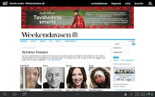 Screenshot of Danish media (Tablet)